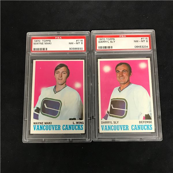 1970 TOPPS GRADED HOCKEY CARD LOT (#116 MAKI/ #115 SLY)