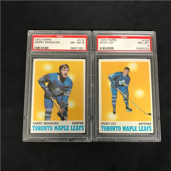 1970 TOPPS GRADED HOCKEY CARD LOT (#112 MONOHAN/ #108 LEY)