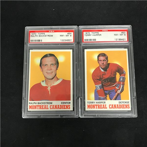 1970 TOPPS GRADED HOCKEY CARD LOT (#54 BACKSTROM/ #53 HARPER)