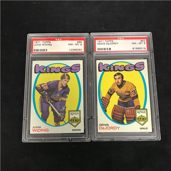 1971 TOPPS GRADED HOCKEY CARD LOT (#86 WIDING/ #63 DeJORDY)