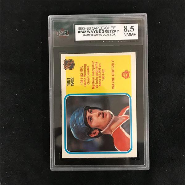 1982-83 O-PEE-CHEE #242 WAYNE GRETZKY Game Winning Goal Leader (8.5 NMM+)