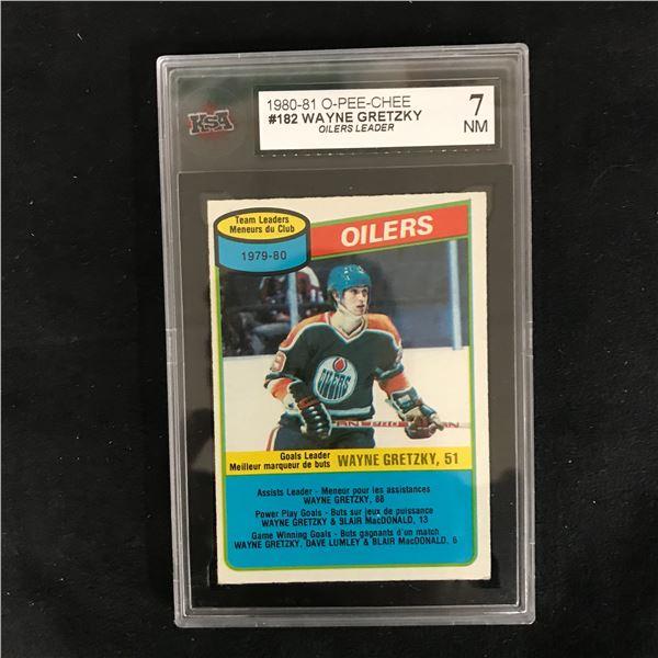 1980-81 O-PEE-CHEE #182 WAYNE GRETZKY Oilers Leader (7 NM)
