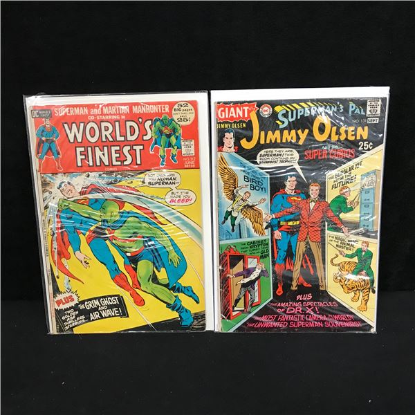 VINTAGE DC COMICS BOOK LOT (WORLD'S FINEST #212/ #JIMMY OLSEN #131)