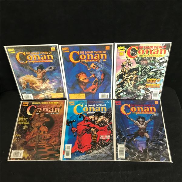 ASSORTED CONAN COMIC BOOK LOT (MARVEL MAGAZINE)