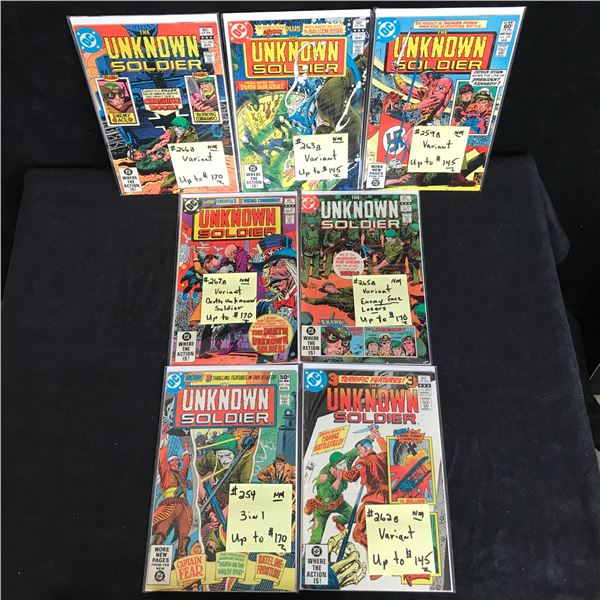 THE UNKNOWN SOLDIER COMIC BOOK LOT (DC COMICS)