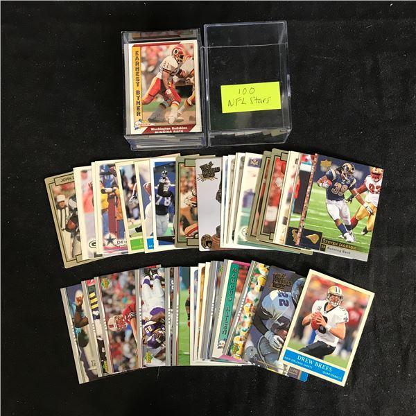 NFL FOOTBALL STARS CARD LOT (100 CARDS)
