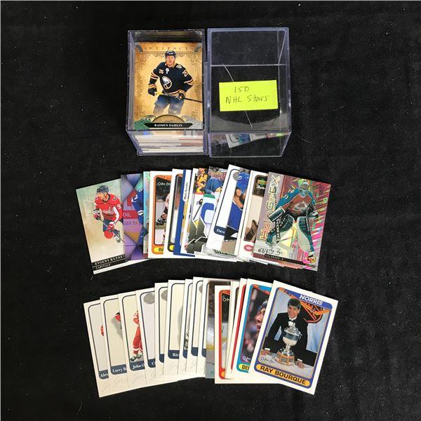 150 NHL HOCKEY STARS CARD LOT