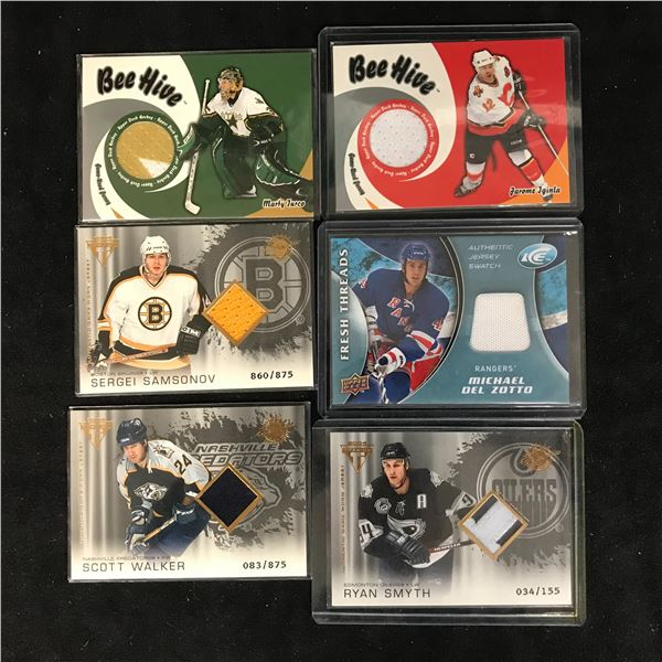 GAME USED JERSEY HOCKEY CARD LOT