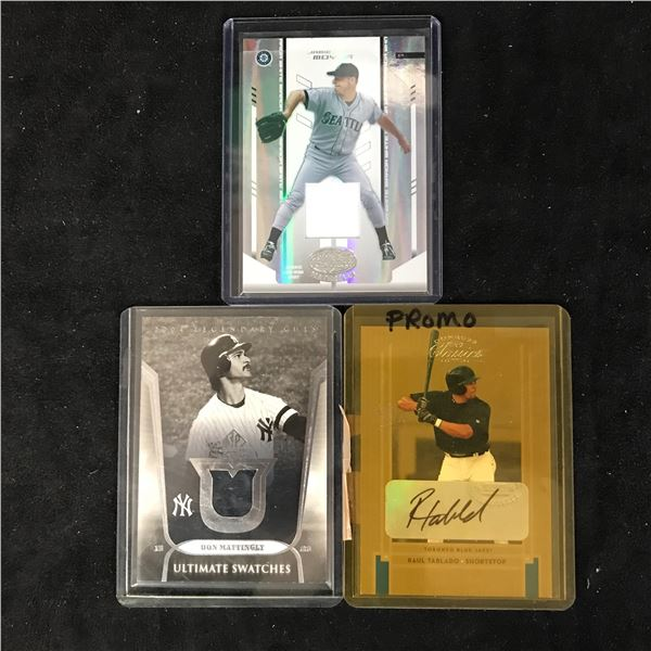 GAME USED JERSEY BASEBALL CARD LOT