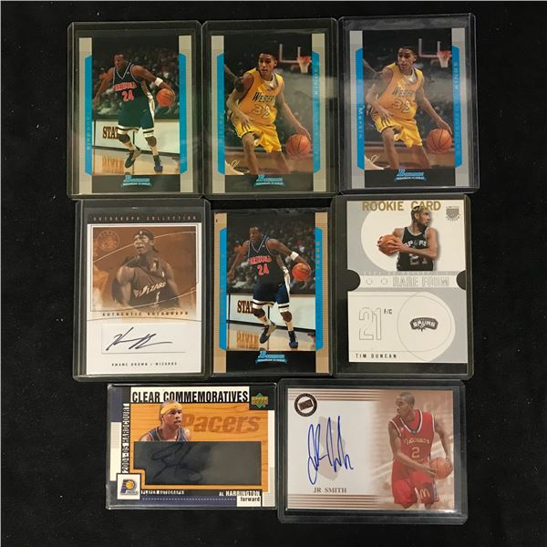 GAME USED JERSEY BASKETBALL CARD LOT