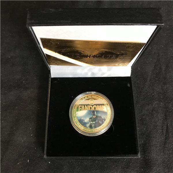 DC FANDOME COLLECTOR COIN w/ DISPLAY BOX & CERTIFICATE