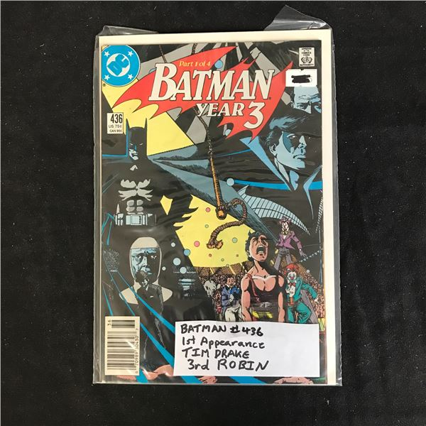 BATMAN #436 (DC COMICS)