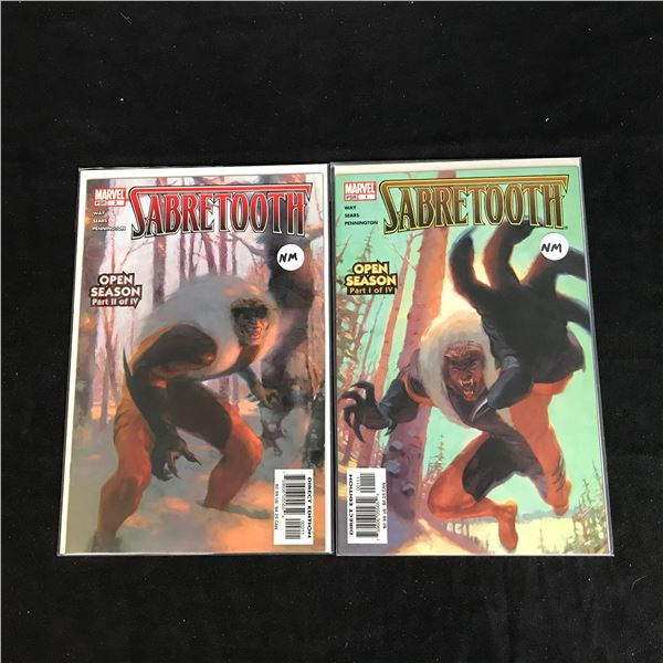SABRETOOTH #1-2 (MARVEL COMICS)
