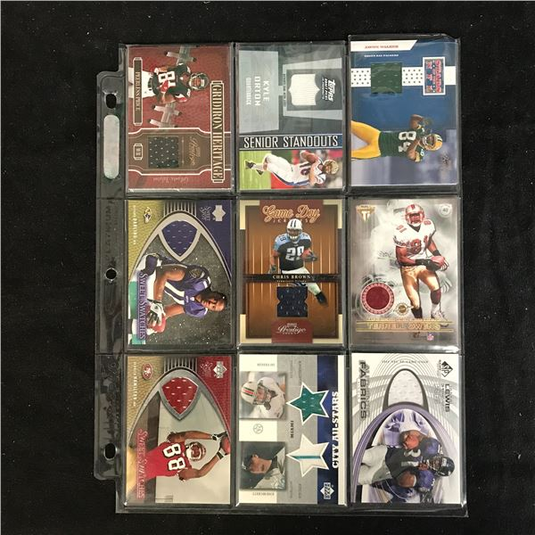 FOOTBALL JERSEY PATCH CARD LOT