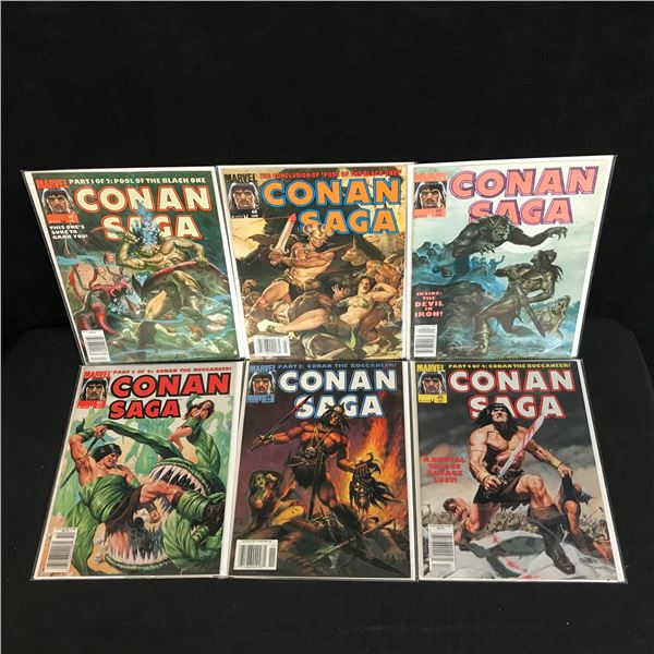 CONAN SAGA COMIC BOOK LOT (MARVEL COMICS)