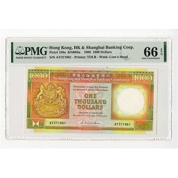 Hongkong & Shanghai Banking Corp.. 1988. One of 2 Sequential High Grade Issued Notes to be offered.