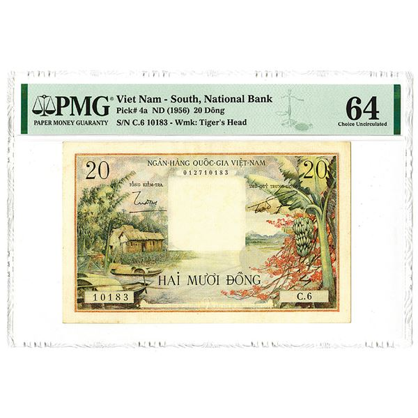 Vietnam - South. National Bank. ND (1956). Issued Banknote.