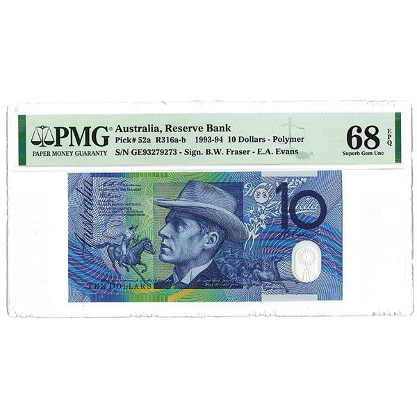 "Reserve Bank of Australia. 1993. ""Top Pop"" Issued Banknote."