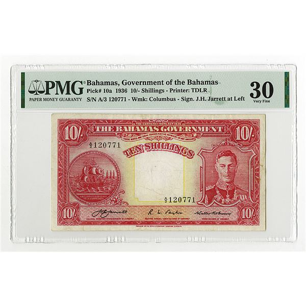 Government of the Bahamas, 1936 Issue Banknote