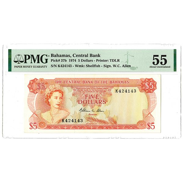Central Bank of the Bahamas. 1974. Issued Banknote.
