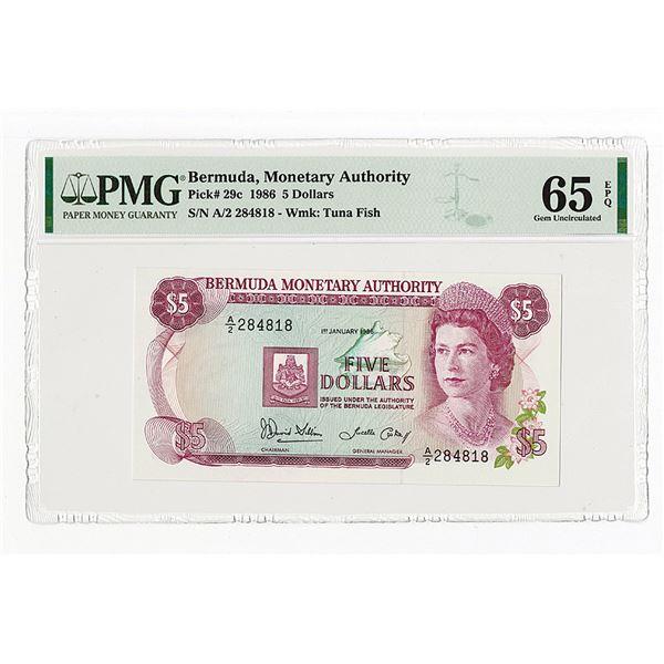 Bermuda Monetary Authority. 1986. Issued Note.