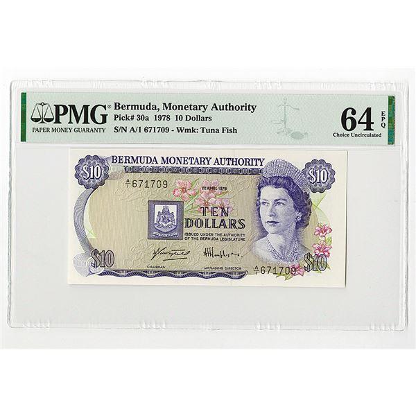 Bermuda Monetary Authority. 1978. Issued Note.