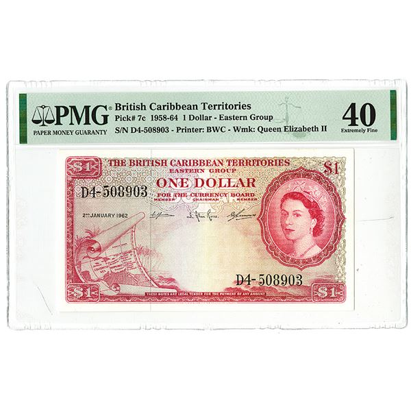 British Caribbean Territories. 1962. Issued Banknote.