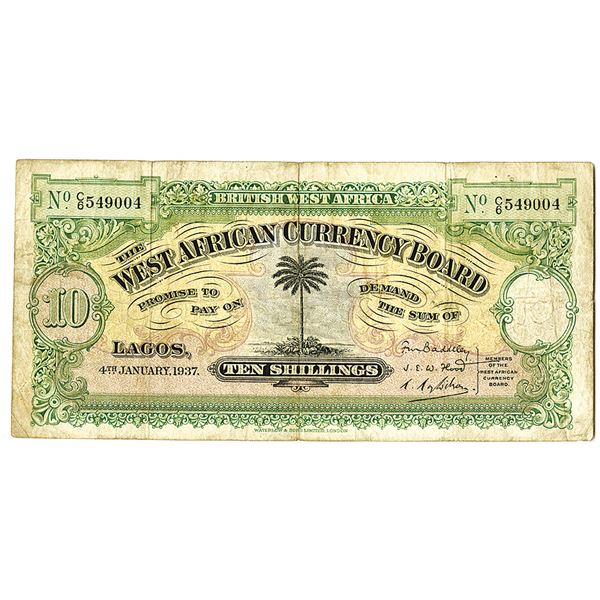 West African Currency Board. 1937. Issued Note.