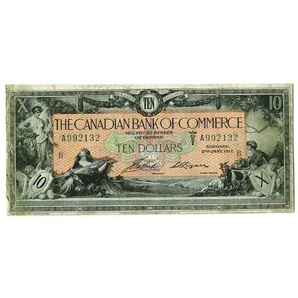 Canadian Bank of Commerce. 1917. Issued Note.