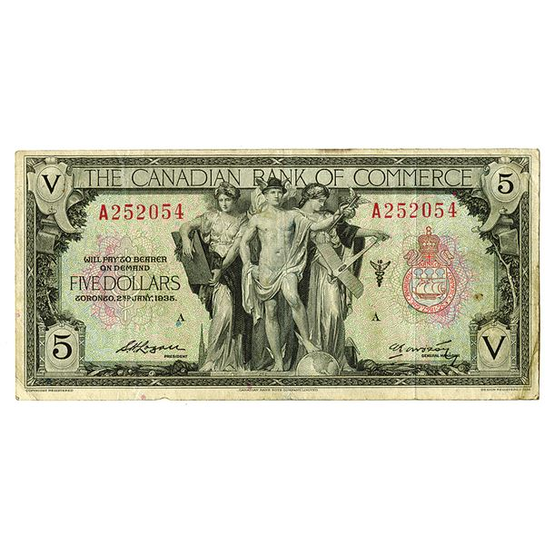 Canadian Bank of Commerce. 1935. Issued Banknote.