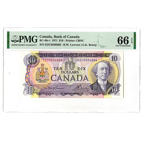 Banque du Canada. 1971. Issued Banknote.