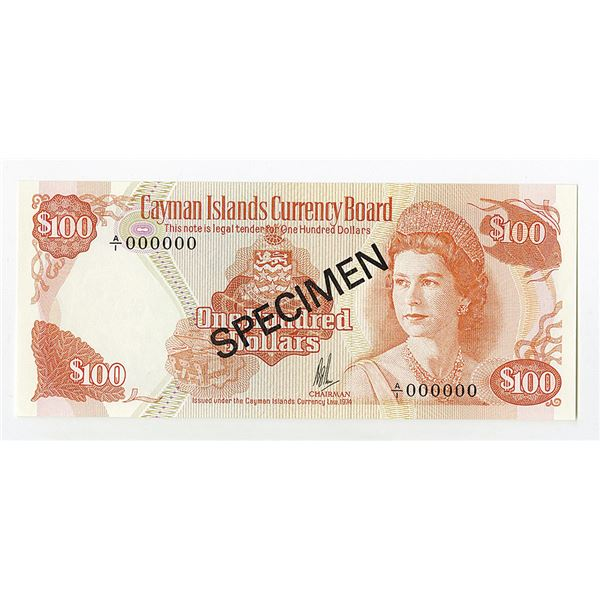 Cayman Islands Currency Board, Issued under the Law of 1974 (1985) Issued Banknote.