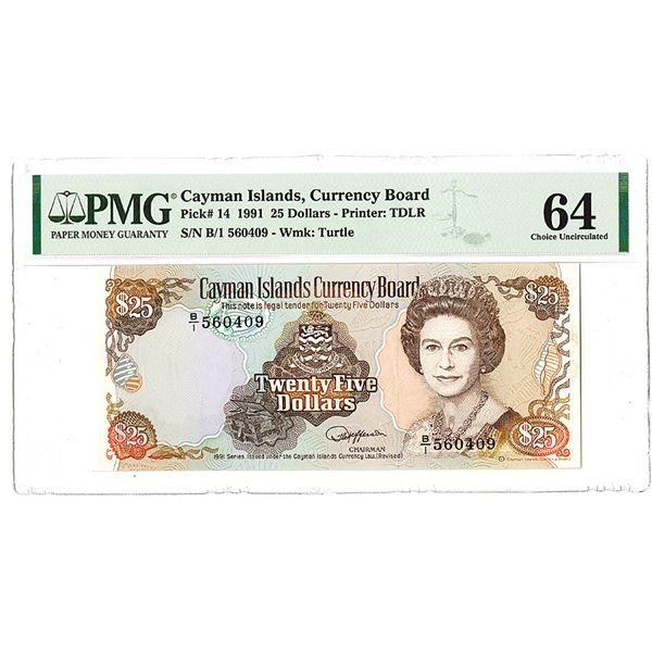 Cayman Islands Currency Board. 1991. Issued Note.