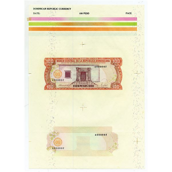 Banco Central De La Republica Dominicana 1988 Essay Proof Sheet.