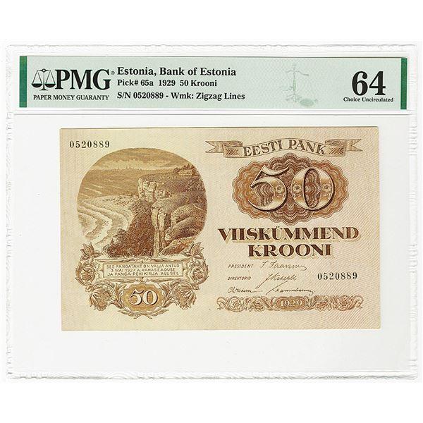 Eesti Vabariigi Kassataht. 1929 Issue Banknote.