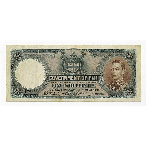 Government of Fiji. 1941 Issue Banknote.