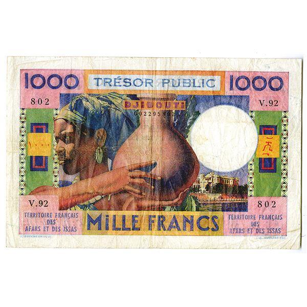 Territoire Francais Des Afars Et Des Issas, Tr_sor Public. Djibouti, ND (1974). Issued Banknote.