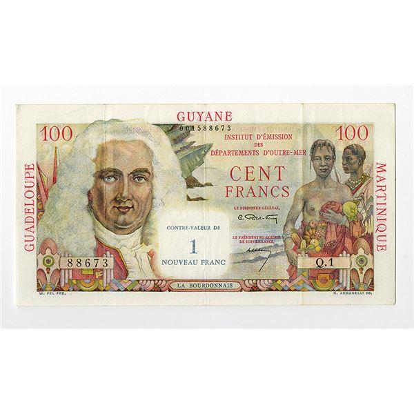 Institut d'Emission des Departements d'Outre-Mer. ND (1961) Issue Banknote.