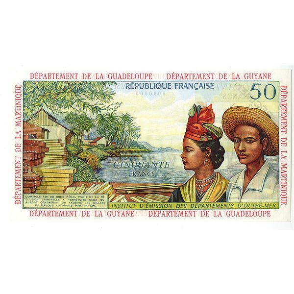 """French Antilles, Institut d'Emission des Departements d'Outre-Mer. ND (1964). """"Top Pop"""" Specimen Not"""