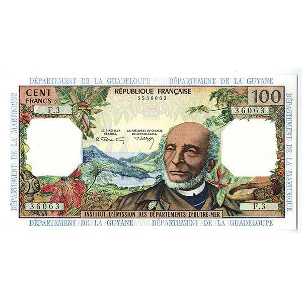 French Antilles, Institut d'Emission des Departements d'Outre-Mer. ND (1964) Issue Banknote.