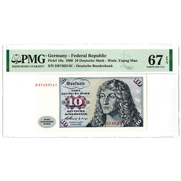 Deutsche Bundesbank. 1960 Issue Banknote.