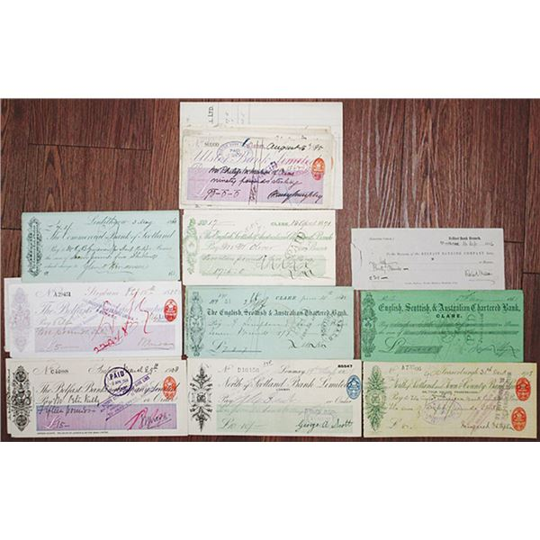 United Kingdom (Predominantly Scotland) Issued Check Group, ca. 1860s-1940s