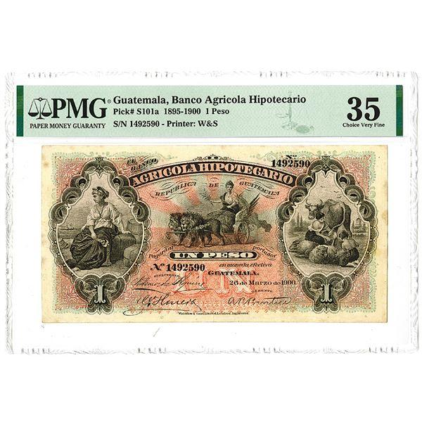 Banco Agricola Hipotecario. 1900 Issue Banknote.