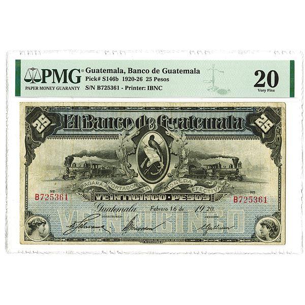 Banco de Guatemala. 1920 Issue Banknote.