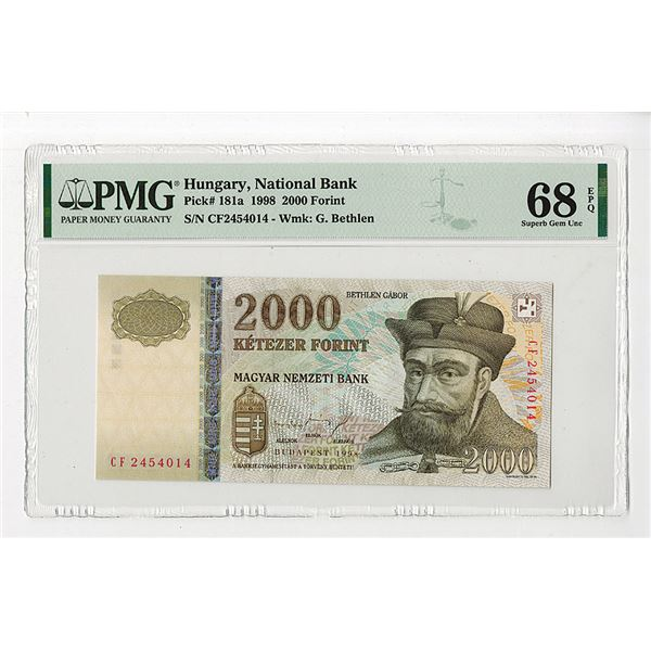"Magyar Nemzeti Bank. 1998. ""Top Pop"" Issued Note."