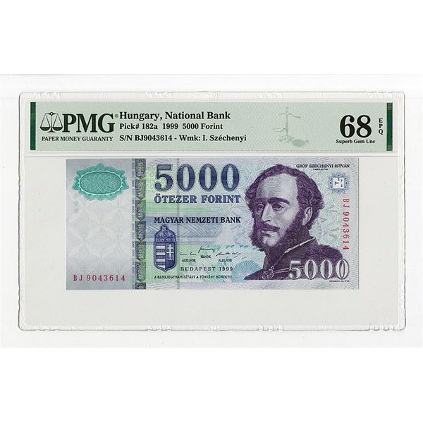 """Magyar Nemzeti Bank. 1999. """"Top Pop"""", One of 2 Sequential High Grade Issued Note to be offered"""