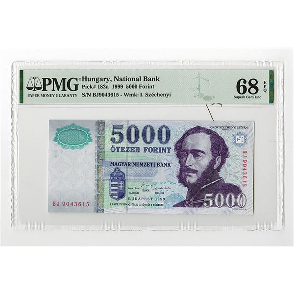 """Magyar Nemzeti Bank. 1999. """"Top Pop"""", The Second of 2 Sequential High Grade Issued Note."""