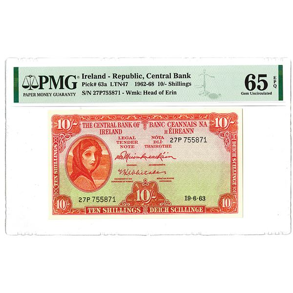 Central Bank of Ireland. 1963. Issued Banknote.
