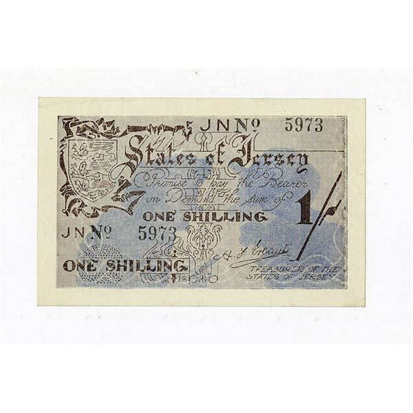 States of Jersey, ND (1941-42) Issue Banknote.