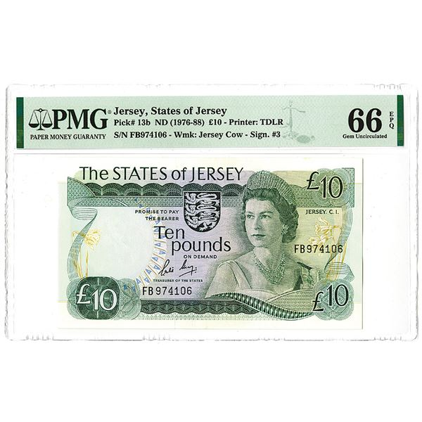 States of Jersey. ND (1976-1988). Issued Banknote.